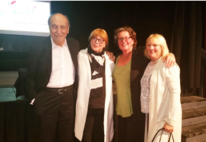 Milton Glaser, Shirley Glaser, Kate McGloughlin and Sarah Stitham