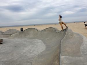 skate boarders at Venice Beach, CA