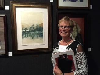 Flo Kemp, received the ART TIMES award at the Catharine Lorillard Wolfe Art Club's 119th Annual Open Exhibit at the National Arts Club Dec. 2015