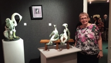 Priscilla Heep-Coll, long time CLWAC board member and the current sculpture chair was the 2015 honored member of the Catharine Lorillard Wolfe Art Club.