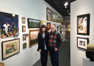 Maxine and Mark Gruber at the Gruber Gallery's 40 Years 40 Themes show