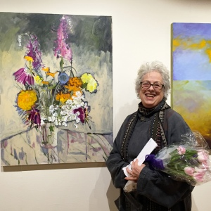 "Lila Bacon's ""Late Summer"" recipient of the Harrie Tannin award at the Woodstock Artist Association Museum, Woodstock, NY"