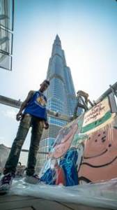 Skyler Grey a Talented teen artist creates inspired art piece at the top of Burj Khalifa