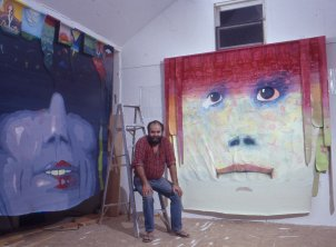 Jan Sawka in his studio in High Falls, NY