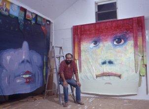 Jan Sawka in his studio in High Falls, NY