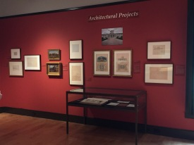"Cole's exhibit ""Architectural Projects"" at the Thomas Cole House in Catskill, NY"