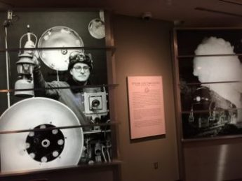 photo taken at the museum of O. Winston Link and his elaborate equipment to photograph at night