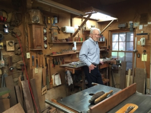 Jake Cress, a master craftsman of traditional and animated wood furniture in his studio in Botetourt, VA