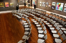 Salmagundi Club main gallery, just waiting for bidders for the Annual Fall Auctions.