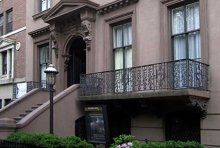 Front of the Salmagundi Club. The last brownstone on 5th Ave in NYC