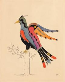 Awa Tsireh (Alfonso Roybal; 1898-1955), San Ildefonso Pueblo, New Mexico, Bird, ca. 1930.