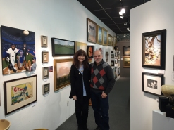 Mark and Maxine Gruber, owners of Gruber Gallery, New Paltz, NY