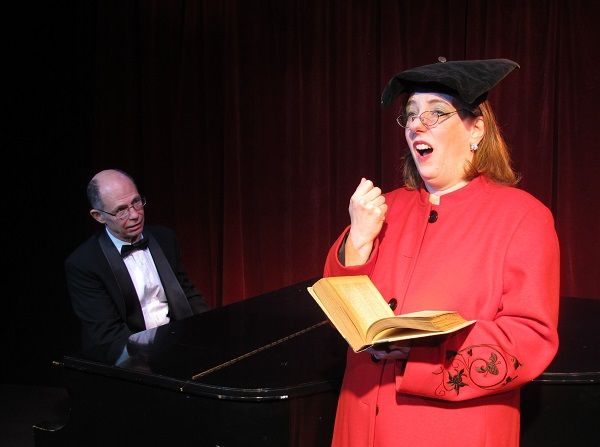 Cosmé and Florence Foster Jenkins during a performance at Carnegie Hall