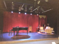 Stage set for Souvenir: A Fantasia on the Life of Florence Foster