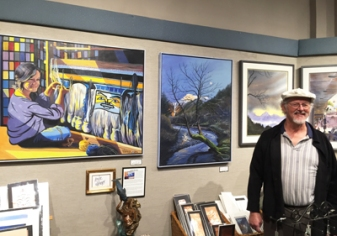 Arnie Weimer, featured artist at Annie Kraill's, est. 1975, has Alaskan artwork, handmade pottery and stoneware, glassware and art glass, local jewelry paintings and sculpture
