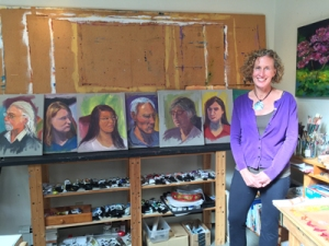 MK MacNaughton in her Studio