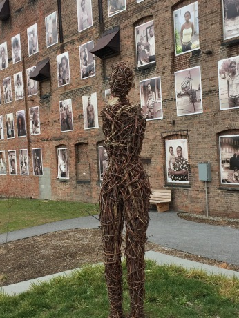 sculpture & portrait wall