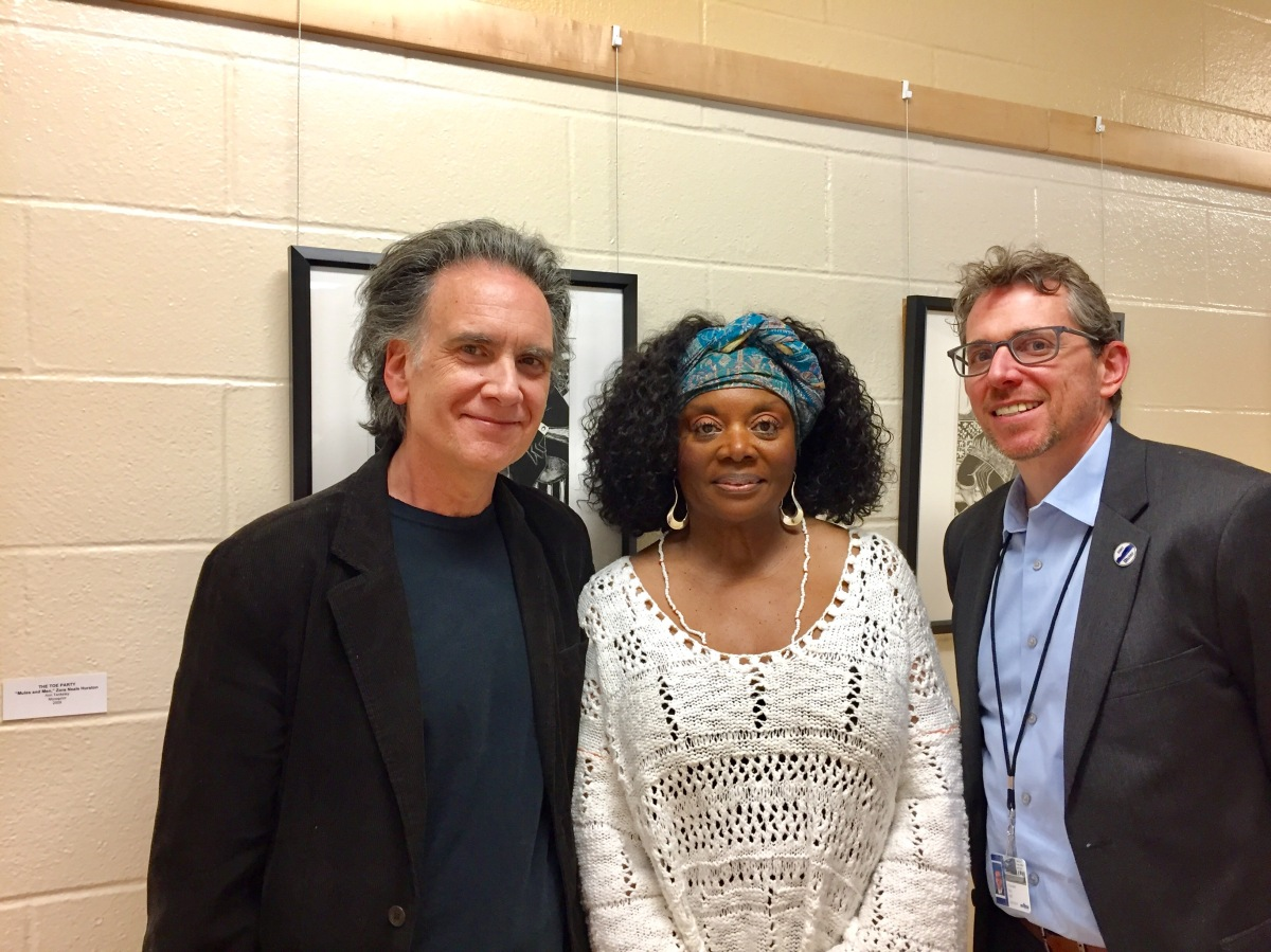 Peter Buffett, Greer Smith, Christopher Marx at Restoring Pride in Culture: Legacy & Tradition exhibit
